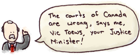 Courts are Wrong, Says Vicky