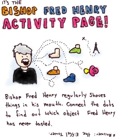 Bishop Fred Henry Activity Page