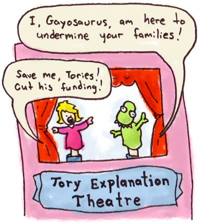 Conservative Explanation Theatre