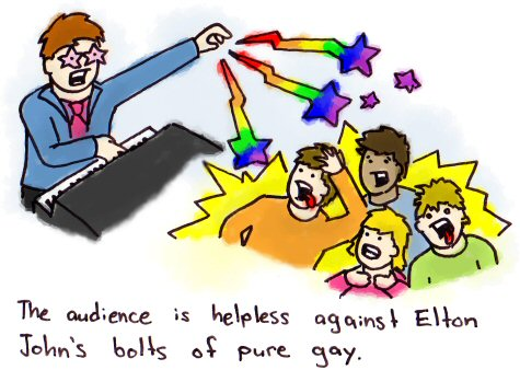 Elton John's Bolts of Pure Gay