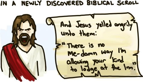 A newly discovered biblical scroll.