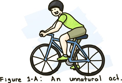 Figure 1-A: Riding a bike; An unnatural act.