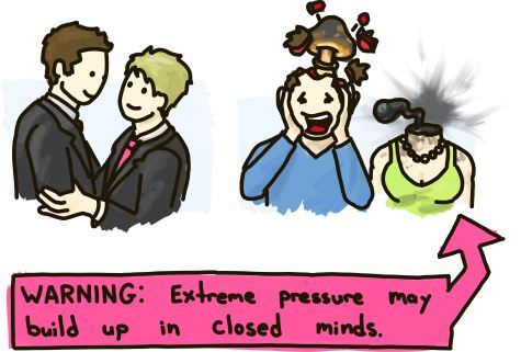Warning: Extreme pressure may build up in closed minds