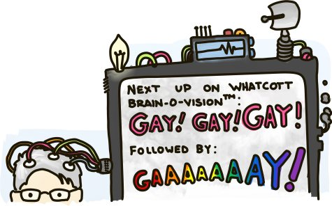 Next up on Whatcott Brain-o-Vision: GAY! GAY! GAY! Followed by: GAAAAAAAAAAAY!