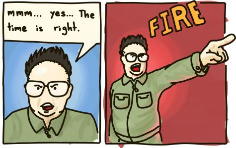 "A dictator announces: ""mmm... yes.. The time is right. FIRE!"""