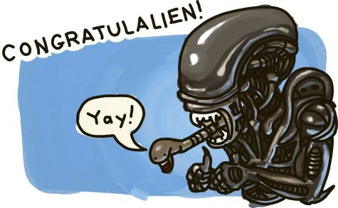 Congratulalien!